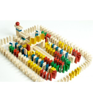 Klocki domino 830 szt kolor